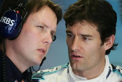 Sam Michael and Mark Webber