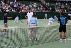 Pitstop tennis Pro-Am charity event: Christian Klien and Fernando Alonso