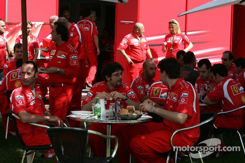 Lunch break at Ferrari