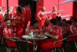 Lunch break at Ferrari