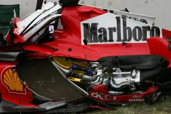 Wrecked car of Felipe Massa