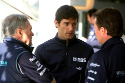 Patrick Head, Mark Webber and Sam Michael