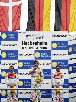 Podium: race winner Bernd Schneider with Tom Kristensen and Heinz-Harald Frentzen