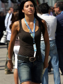 Elonore Gregoracci, girlfriend of Flavio Briatore