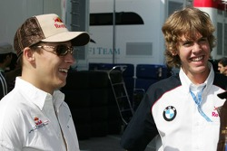 Christian Klien with Sebastian Vettel