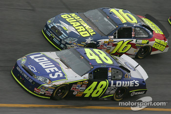 Jimmie Johnson and Greg Biffle