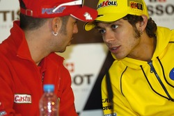 Press conference: Marco Melandri and Valentino Rossi