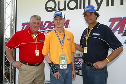 President of Aaron's William Butler, mine survivor Randy McCloy and Michael Waltrip