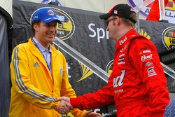 Actor Will Ferrell and Dale Earnhardt Jr.
