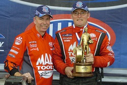 Doug Kalitta with his crew chief Rahn Tobler