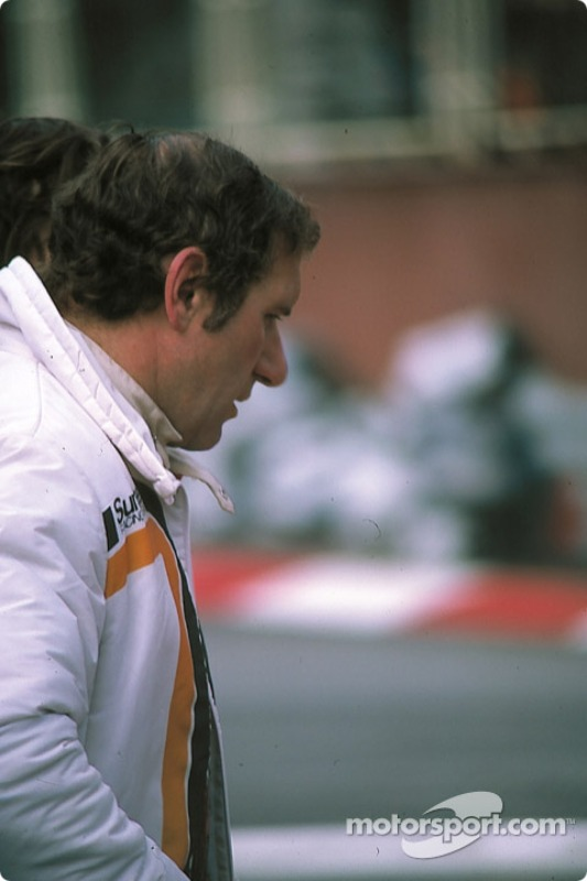 Vittorio Brambilla walks to the pits