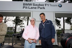 Visit of BMW Sauber F1 team Pitlane Park: Bernie Ecclestone and Dr. Mario Theissen