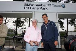 Visit of BMW Sauber F1 team Pitlane Park: Bernie Ecclestone and Dr. Mario Theissen