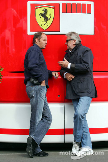 Gerhard Berger and Willi Weber