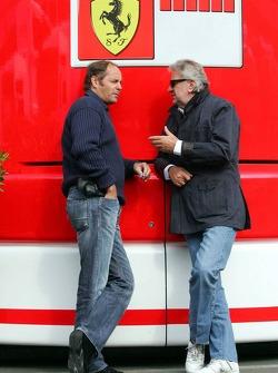 Gerhard Berger and Willi Weber