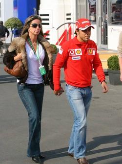 Felipe Massa with girlfriend Rafaela Bassi