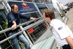 Gerhard Berger and Christian Horner
