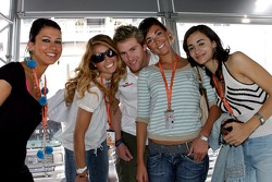 Scott Speed with Formula Unas girls