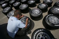 Bridgestone tyres are marked up