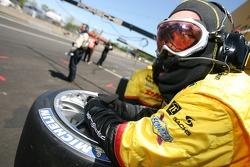 Penske Motorsports crew member ready for a pitstop