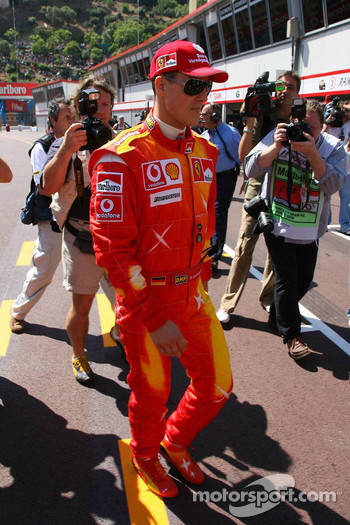 Michael Schumacher wears new suit for the Monaco GP