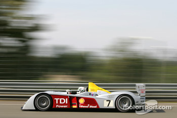 #7 Audi Sport Team Joest Audi R10: Allan McNish, Rinaldo Capello, Tom Kristensen, #63 Corvette Racing Corvette C6-R: Ron Fellows, Johnny O'Connell, Max Papis