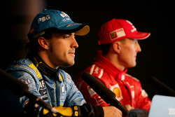 Press conference: Pole winner Fernando Alonso and third place Michael Schumacher