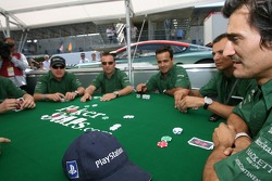 Aston Martin Racing drivers learn how to play poker