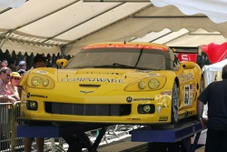 Corvette Racing Corvette C6-R cars in scrutineering