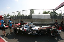 McLaren in technical inspection line