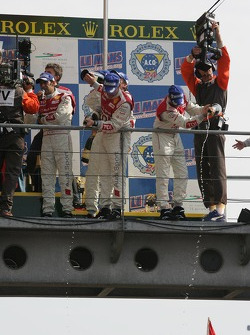 LMP1 podium: champagne for the fans