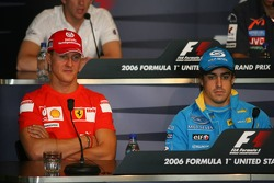 FIA press conference: Michael Schumacher and Fernando Alonso