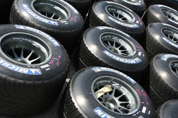 Michelin F1 tires in the paddock