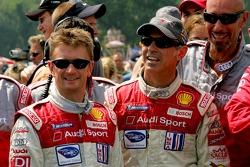 Audi R8 retirement ceremony: Allan McNish and Rinaldo Capello