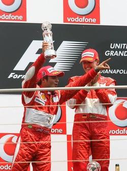 Podium: race winner Michael Schumacher with Felipe Massa