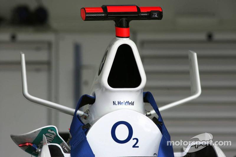 BMW Sauber mit den Bullenhörnern wie der McLaren