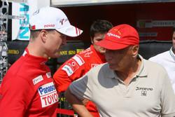 Ralf Schumacher talk with Niki Lauda