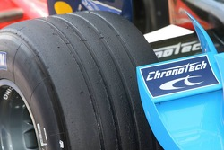 Michelin rear tyre of Fernando Alonso
