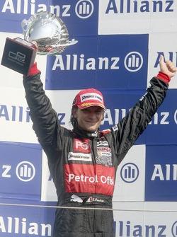 Giorgio Pantano celebrates victory