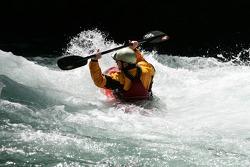 A kayakist