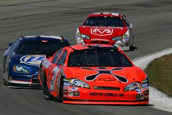 Jeff Burton leads Kurt Busch and Kasey Kahne