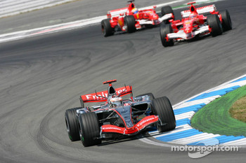 Kimi Raikkonen and Michael Schumacher