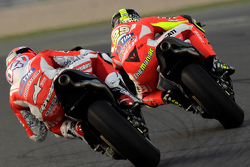 Andrea Dovizioso, Ducati Team and Andrea Iannone, Ducati Team