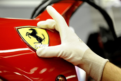 The Ferrari Prancing Horse on the assembly line