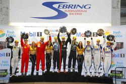 PC class podium: winners Mike Guasch, Andrew Palmer, Tom Kimber-Smith PR1 Mathiasen Motorsports