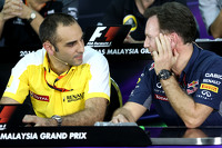 Cyril Abiteboul, Renault Sport F1 and Christian Horner, Red Bull Racing, Sporting Director