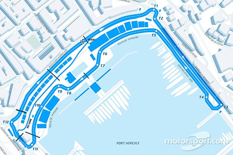 Layout des ePrix von Monaco