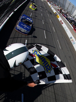 Joey Logano, Brad Keselowski Racing Ford takes the win