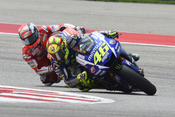 Valentino Rossi, Yamaha Factory Racing and Andrea Dovizioso, Ducati Team
