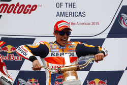 Podium: winner Marc Marquez, Repsol Honda Team